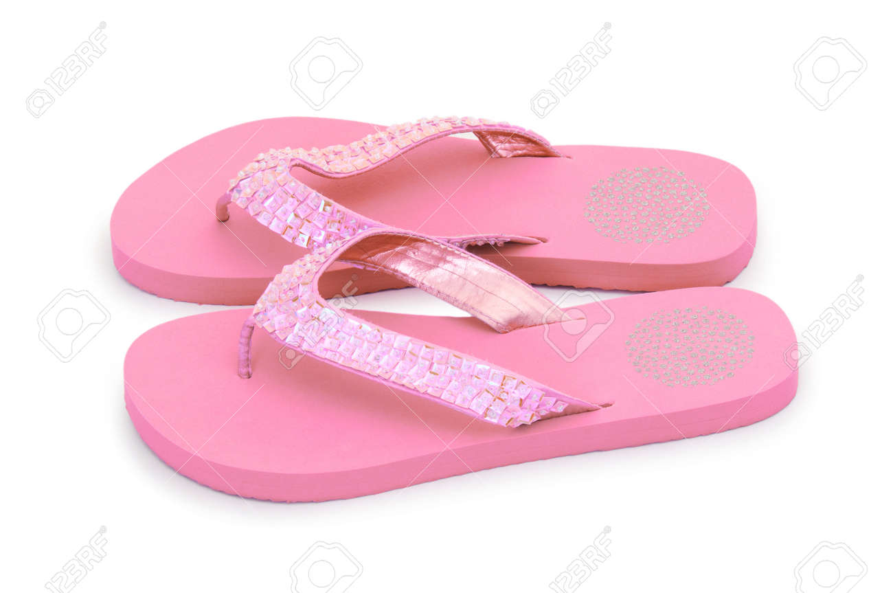 Summer colourful shoes on white Stock Photo - 12349285