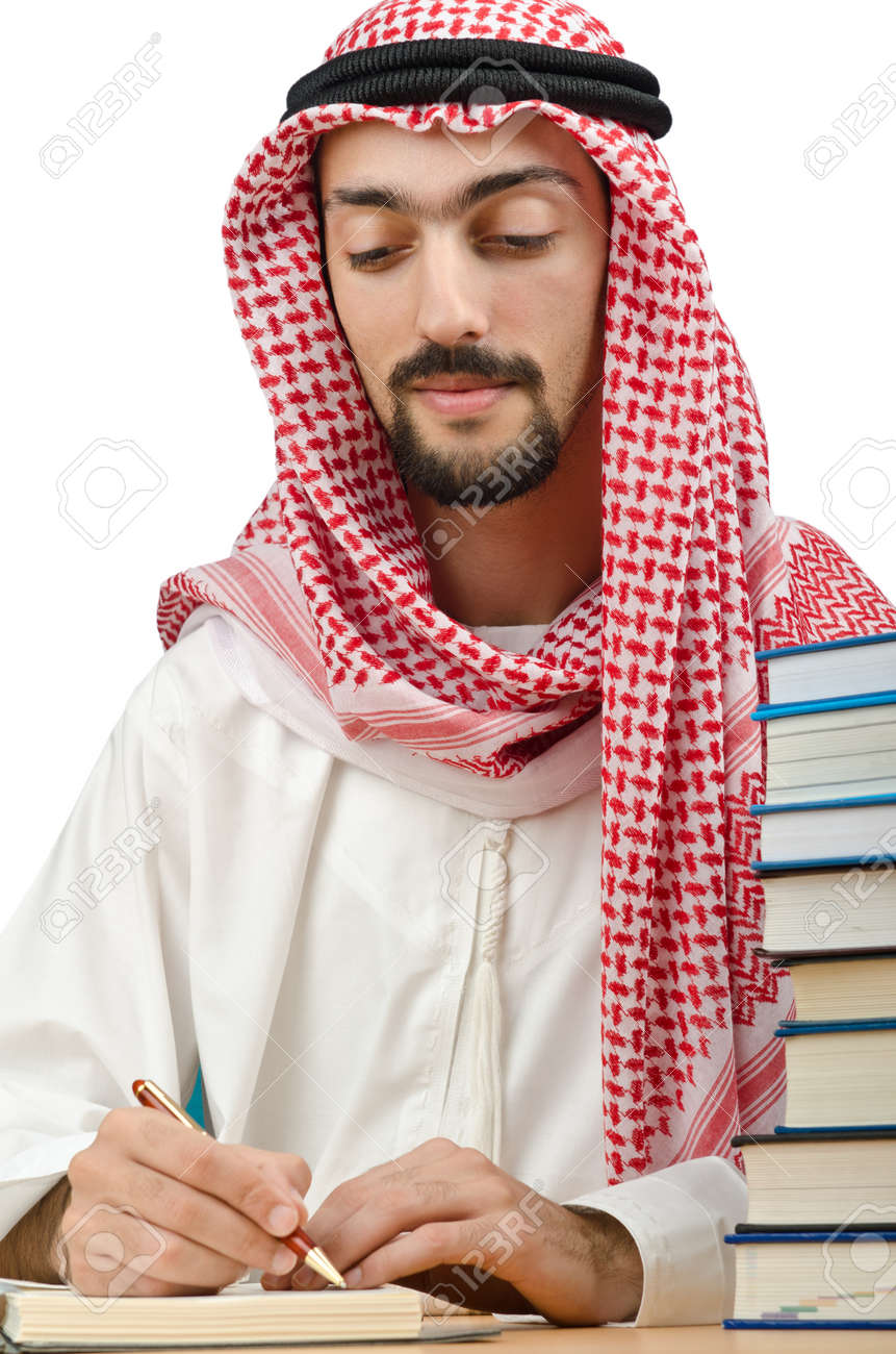 Education concept with young arab Stock Photo - 12472049