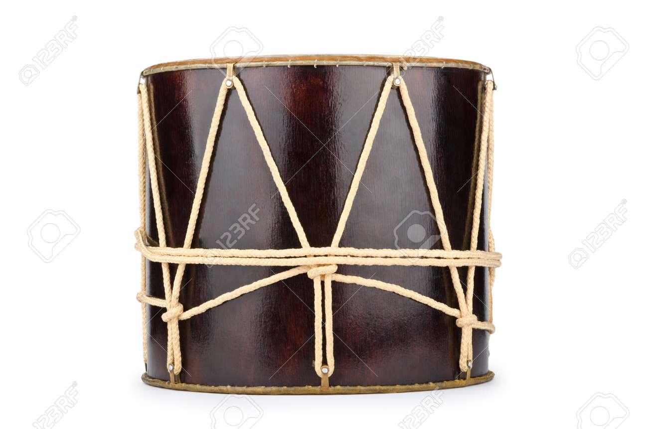 Azeri traditional drum nagara on white Stock Photo - 12346307