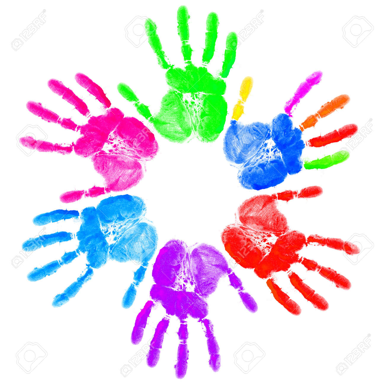 hand print on the white stock photo picture and royalty free image
