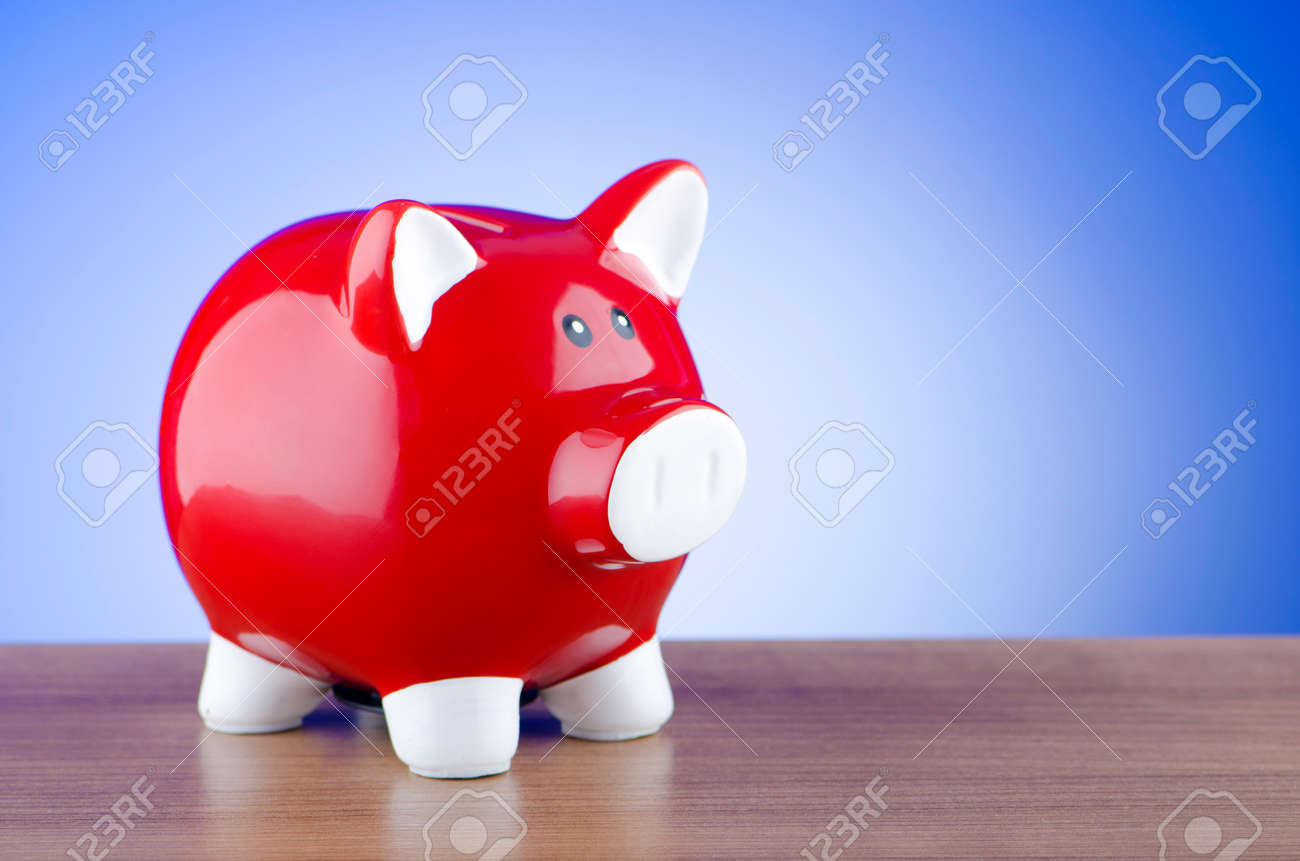 Piggy bank in business concept Stock Photo - 12503278