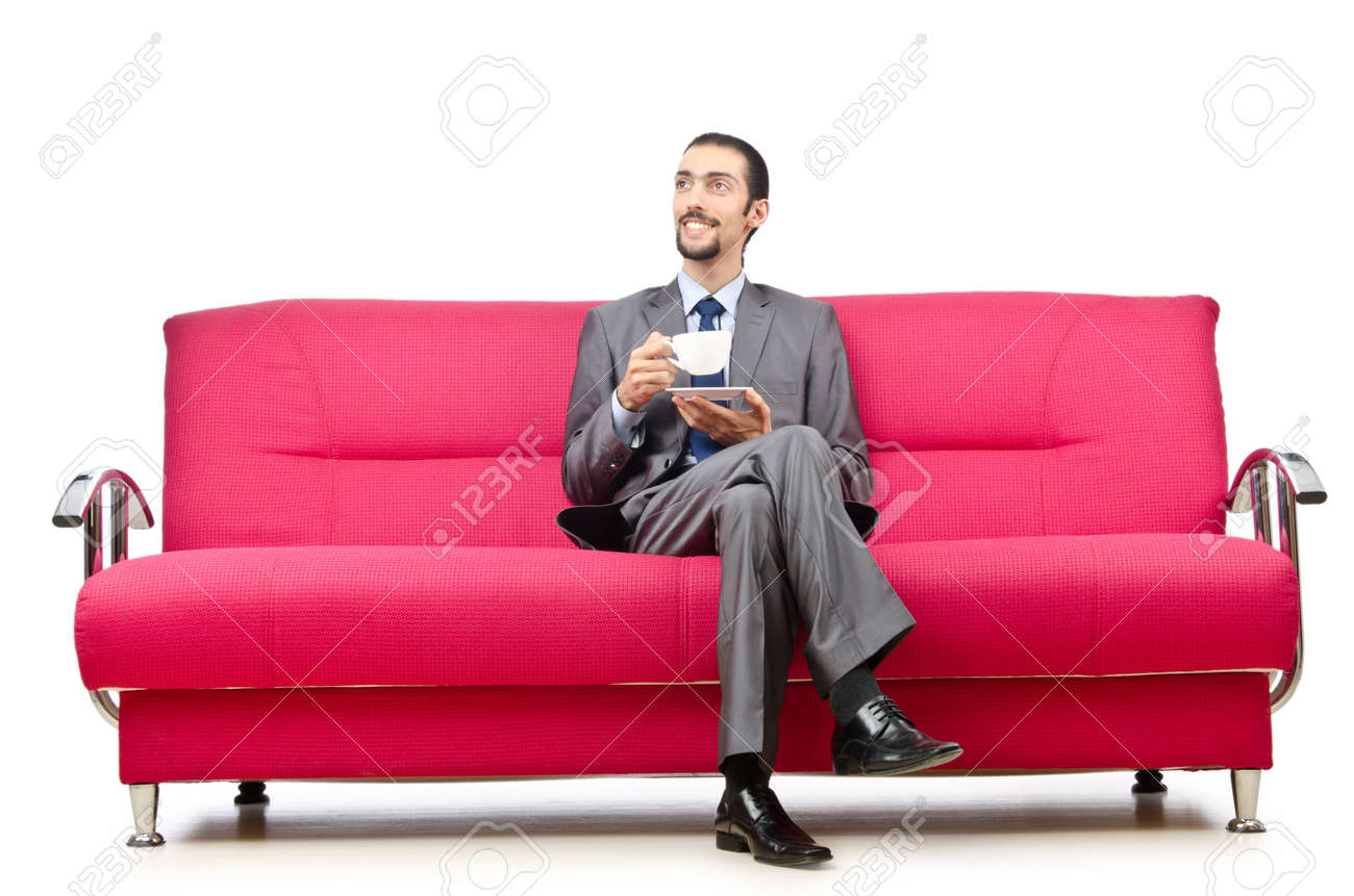 Man sitting in the sofa Stock Photo - 12556182