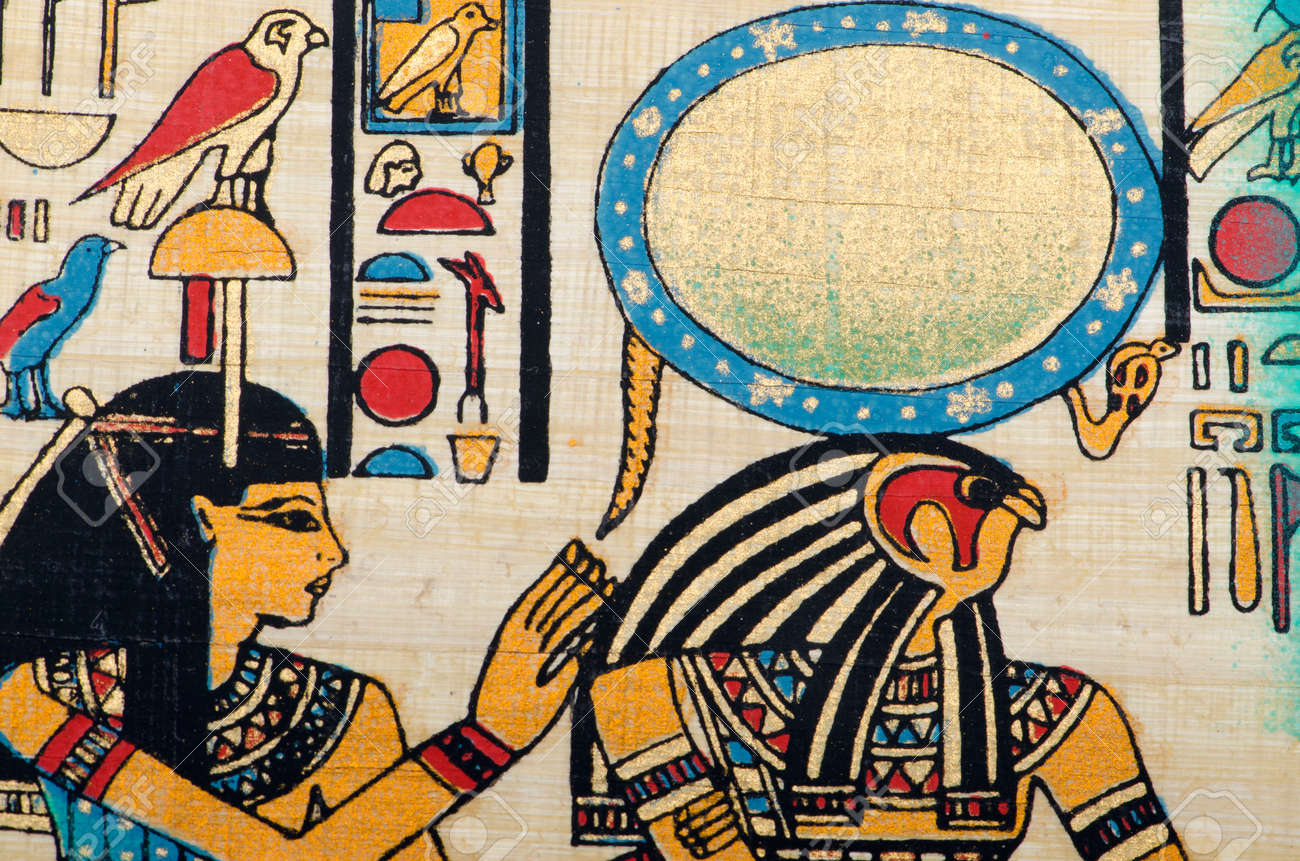 Egyptian history concept with papyrus Stock Photo - 12489057