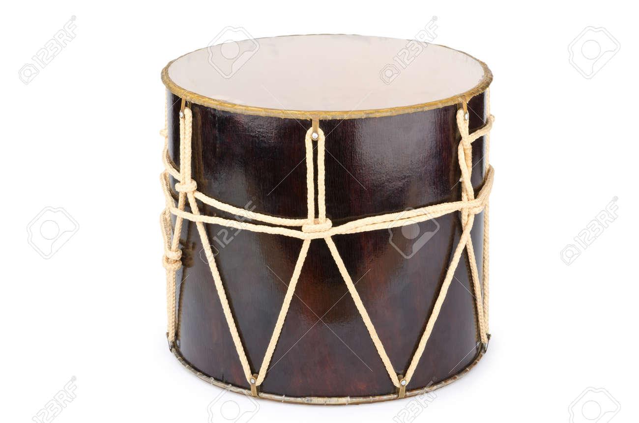 Azeri traditional drum nagara on white Stock Photo - 12581586