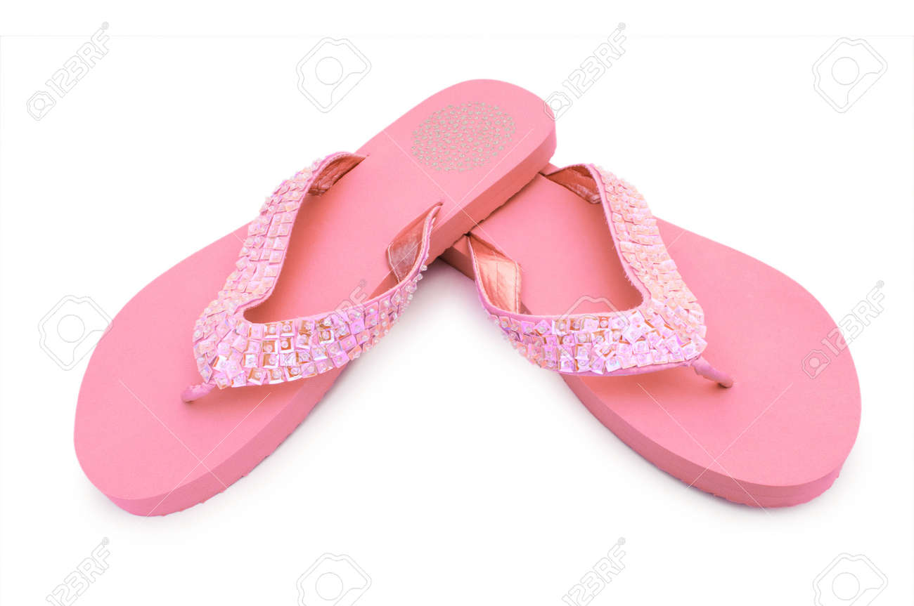 Summer colourful shoes on white Stock Photo - 12580444
