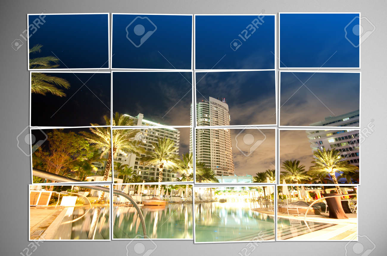 Photo cut into pieces with nature concept Stock Photo - 12716410