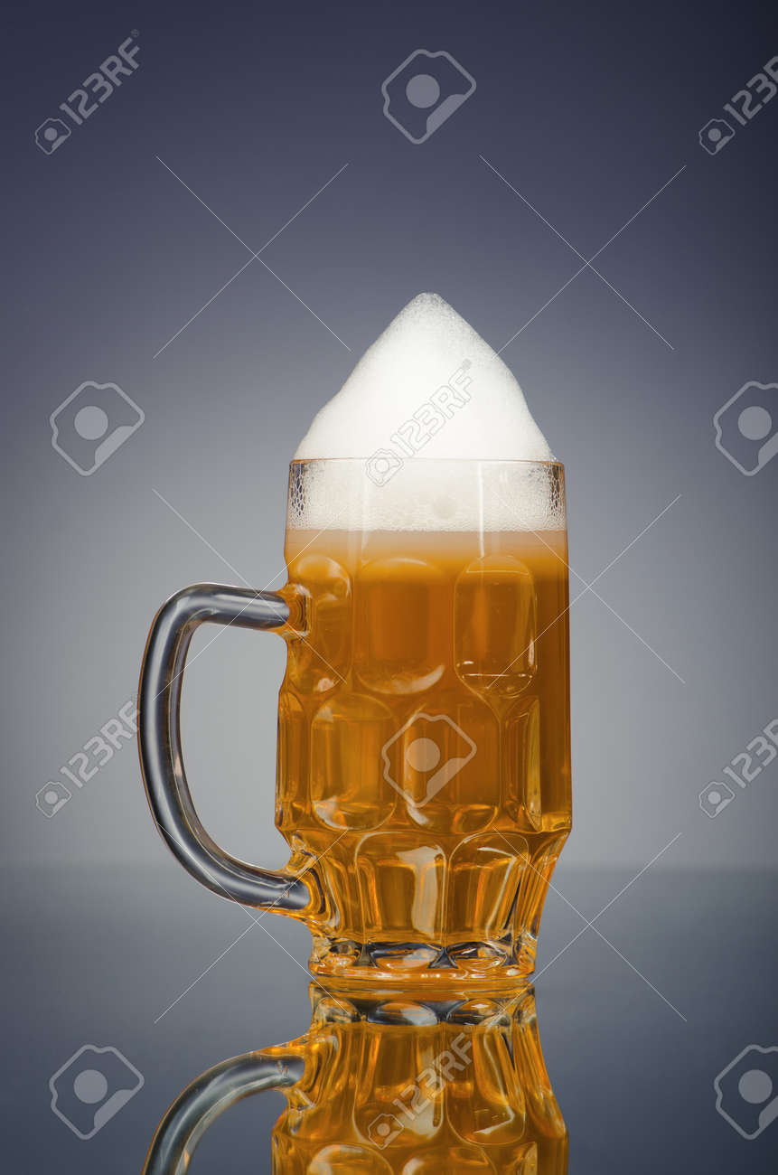 Beer glass on the table Stock Photo - 12798815