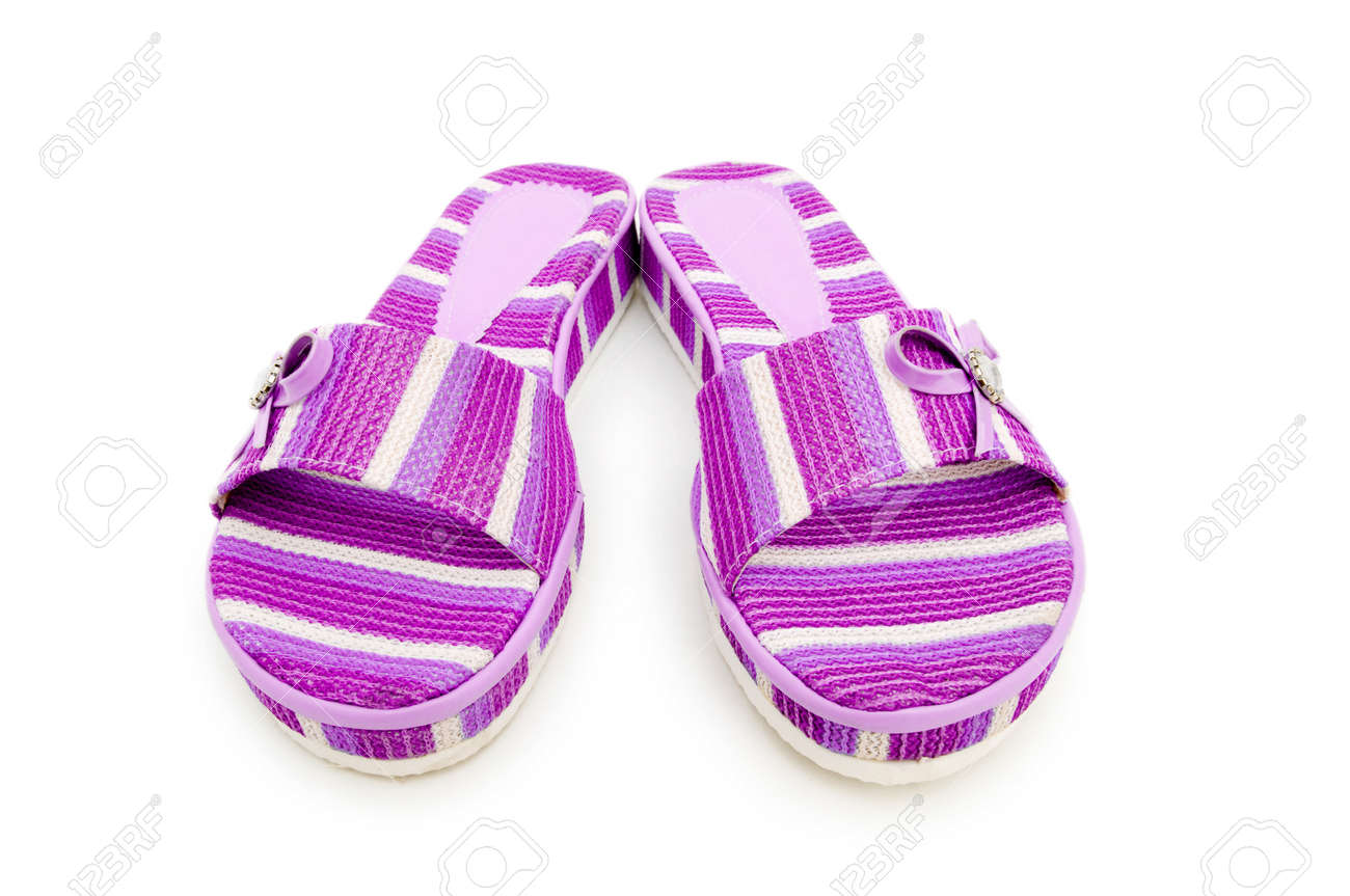 Summer colourful shoes on white Stock Photo - 13224877