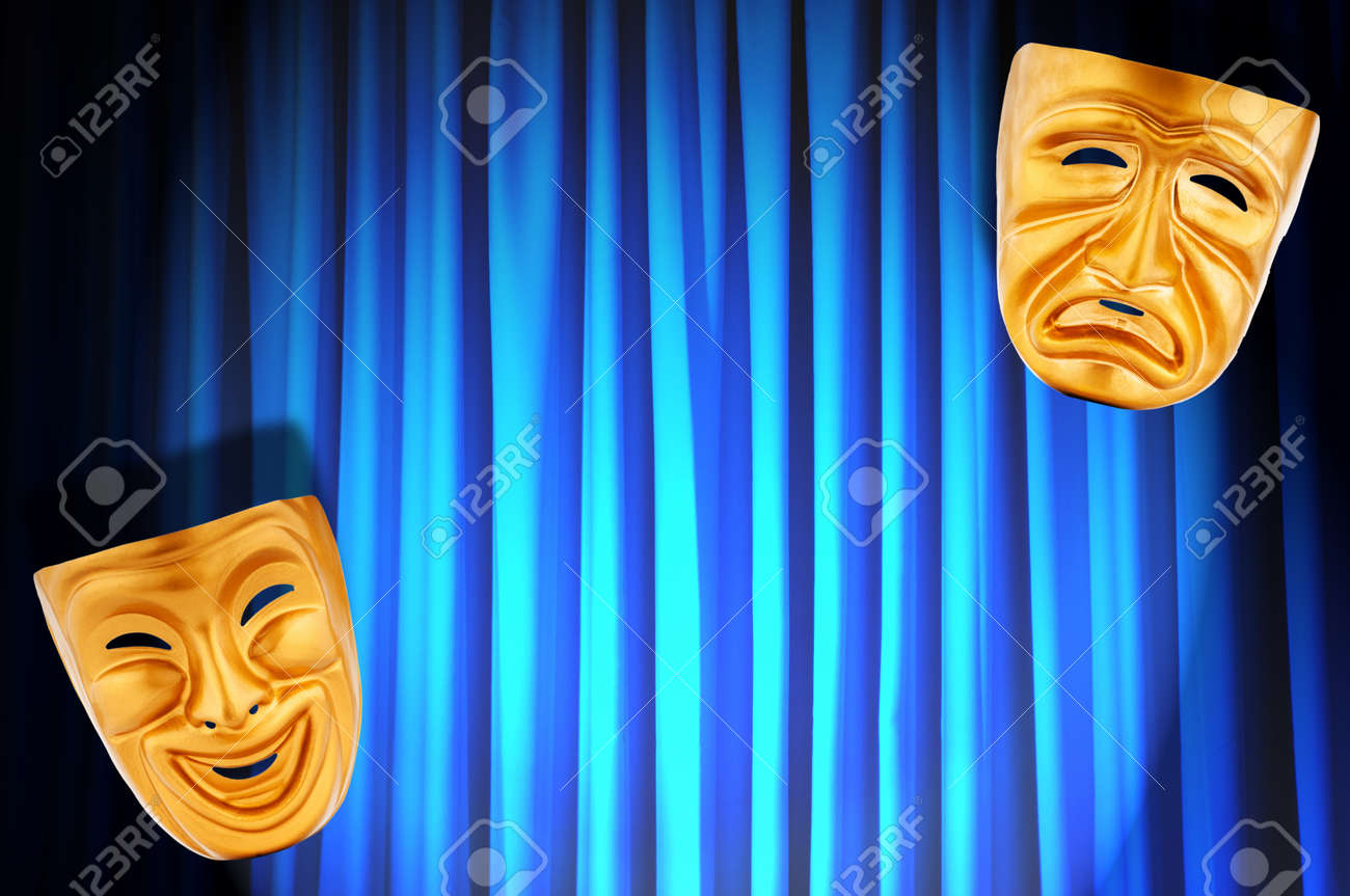 Theatre performance concept with masks Stock Photo - 13223107