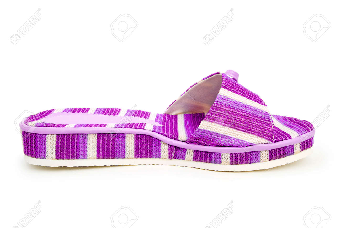 Summer colourful shoes on white Stock Photo - 13516391