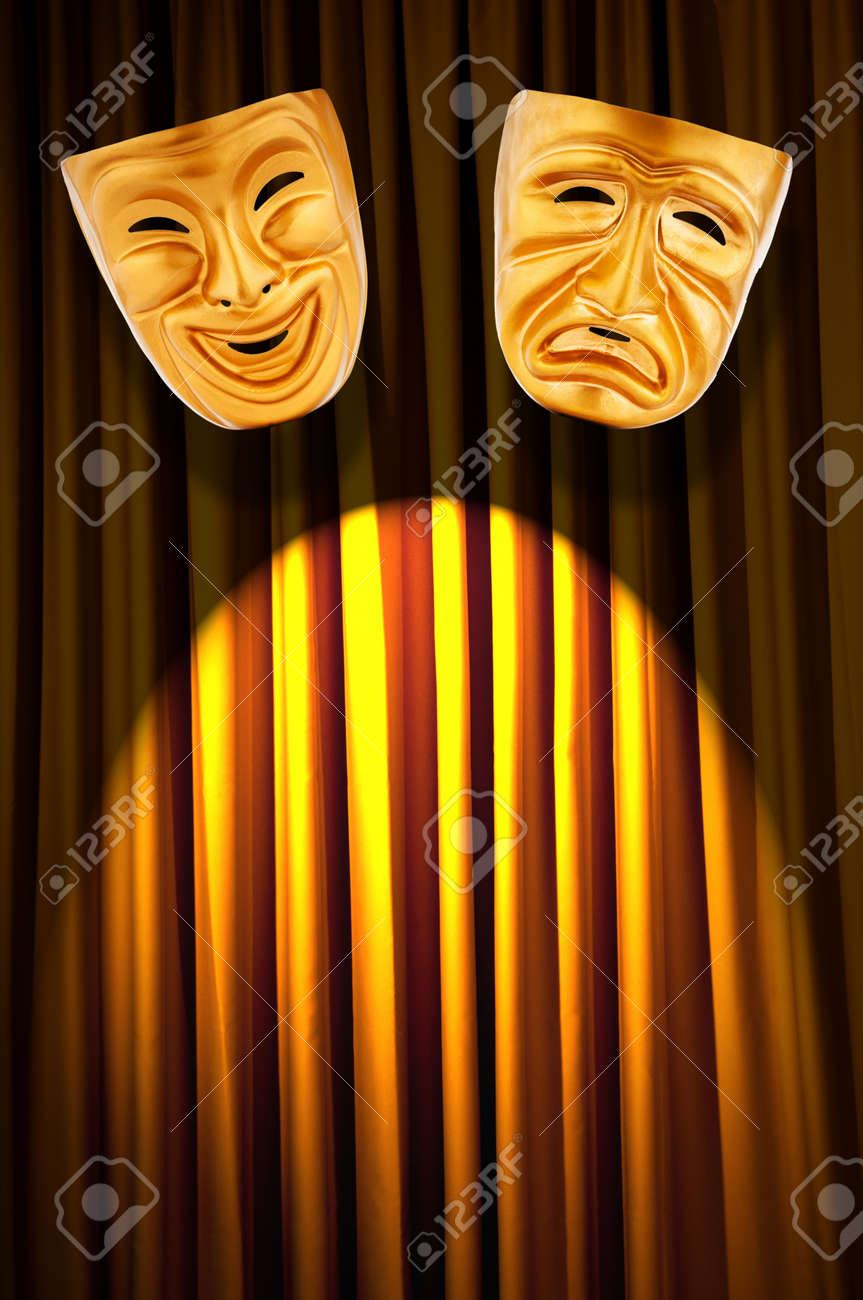 Theatre performance concept with masks Stock Photo - 13857782