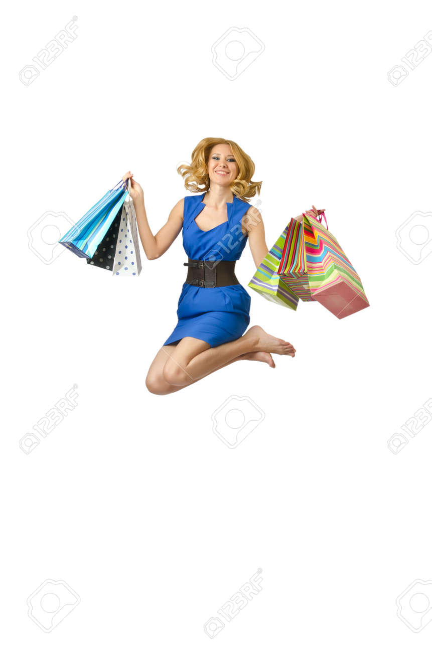 Attractive girl with shopping bags Stock Photo - 14423993