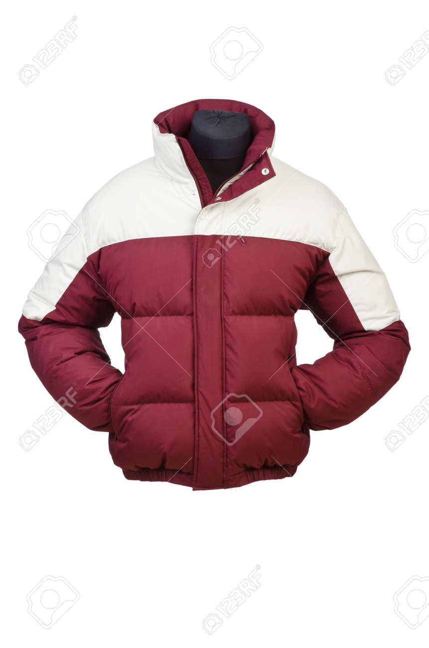Male coat isolated on the white Stock Photo - 14684740