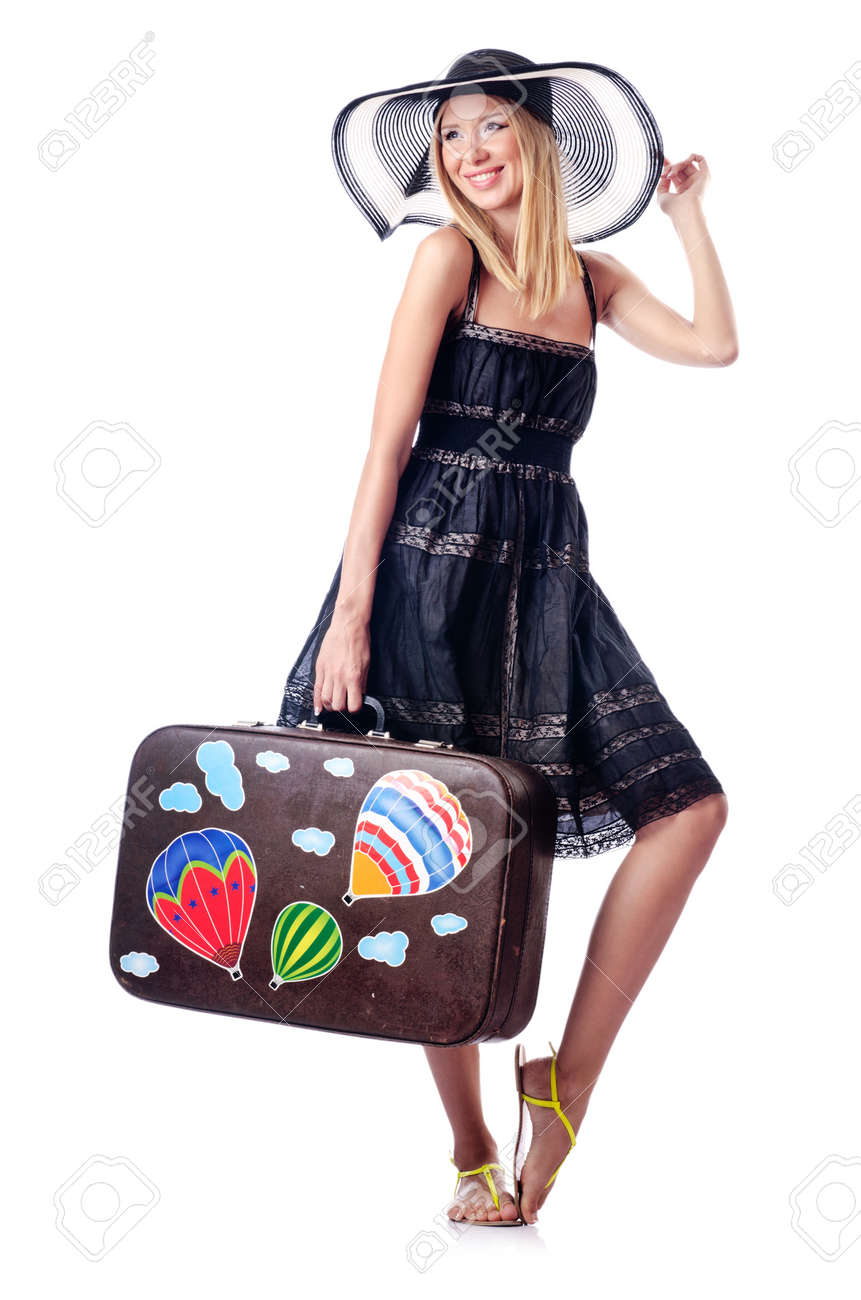 Woman preparing for beach vacation Stock Photo - 14804632