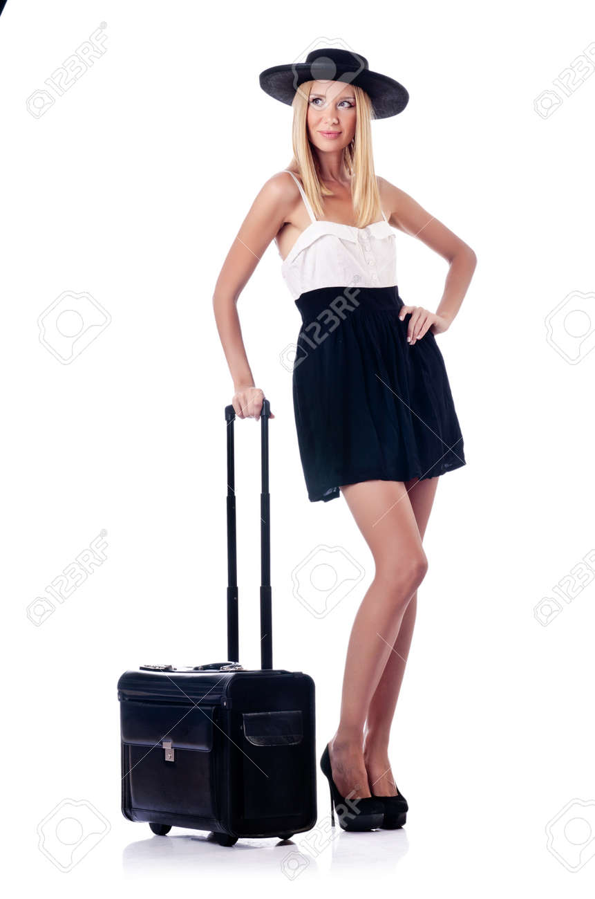 Woman preparing for beach vacation Stock Photo - 14999556