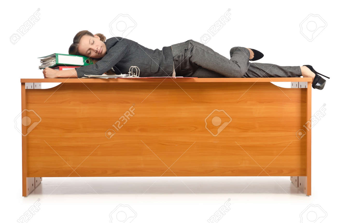 Busy businesswoman isolated on the white Stock Photo - 15766970