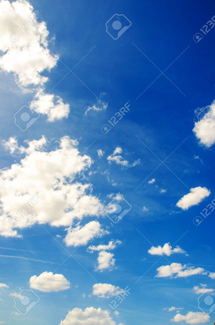 Bright blue sky in summer day Stock Photo - 15929017