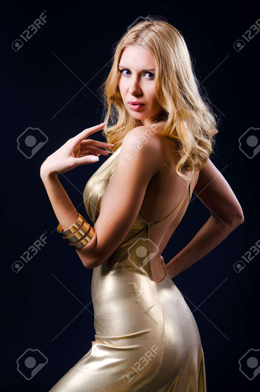 Attractive woman in studio shooting Stock Photo - 15926711