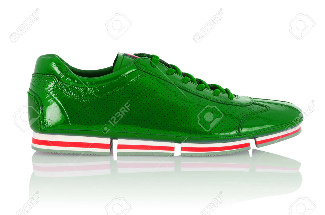 Sport males shoes isolated on white Stock Photo - 15997085