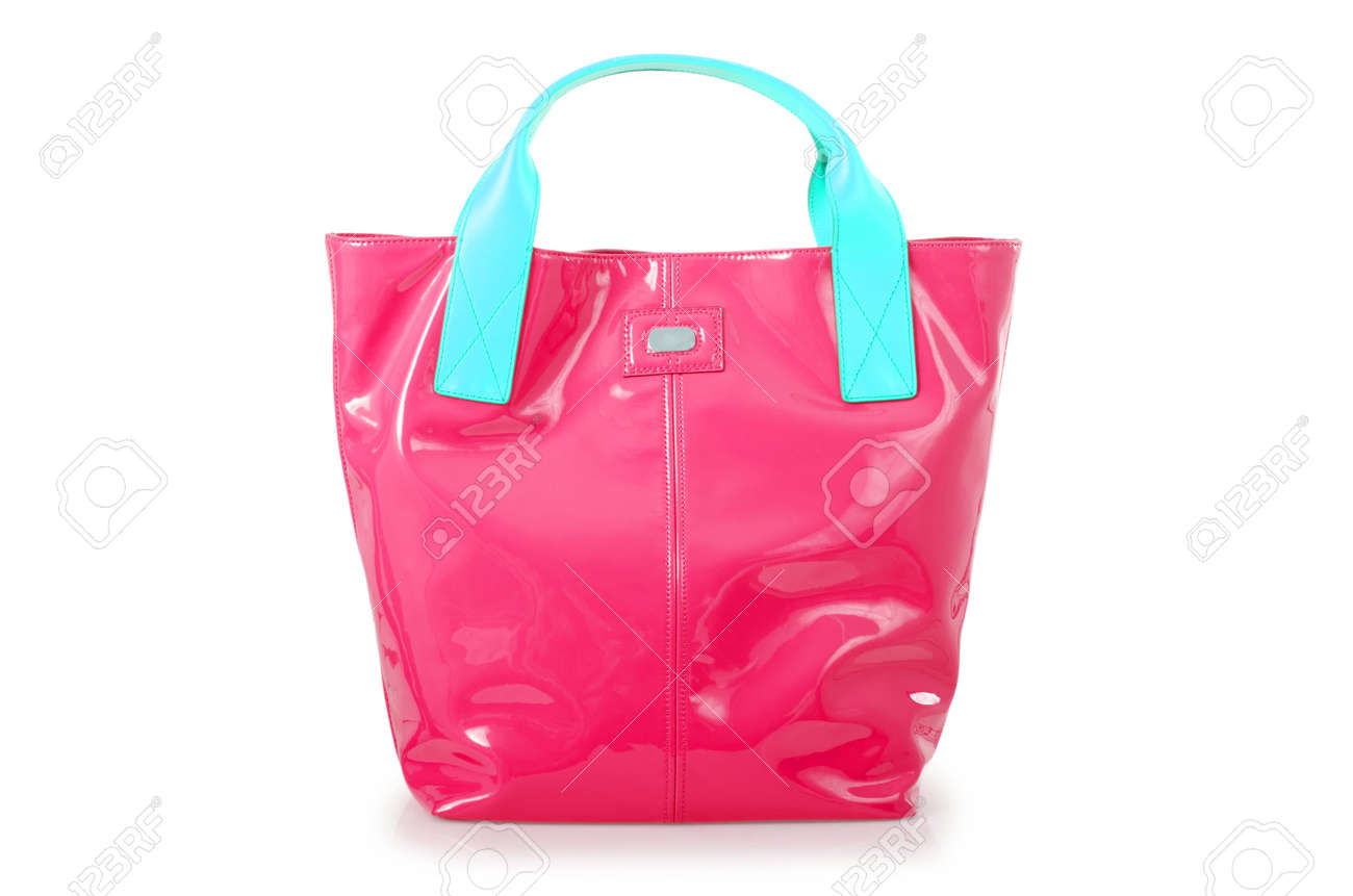 Elegant woman bag isolated on white Stock Photo - 15972505
