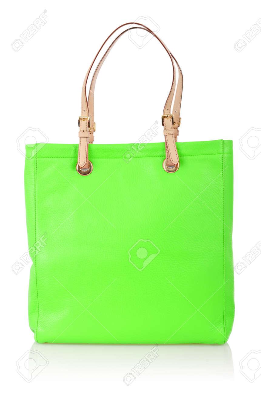Elegant woman bag isolated on white Stock Photo - 16022243