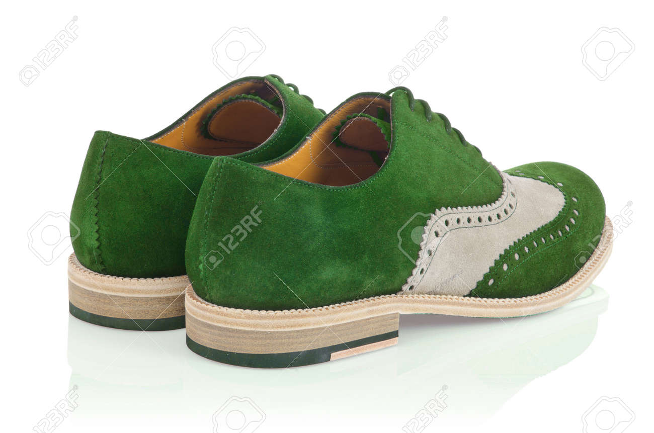 Male shoes isolated on white Stock Photo - 16054923