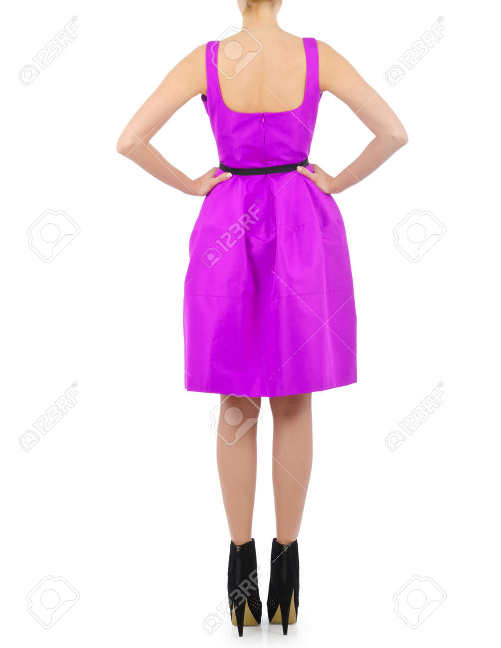 Fashion concept with model on white Stock Photo - 15963194