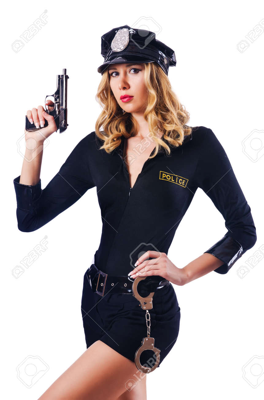 Young attractive woman police Stock Photo - 16174493