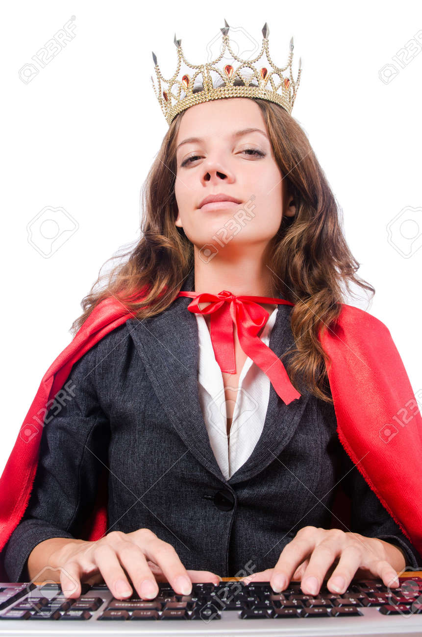 Office queen isolated on the white Stock Photo - 16934017