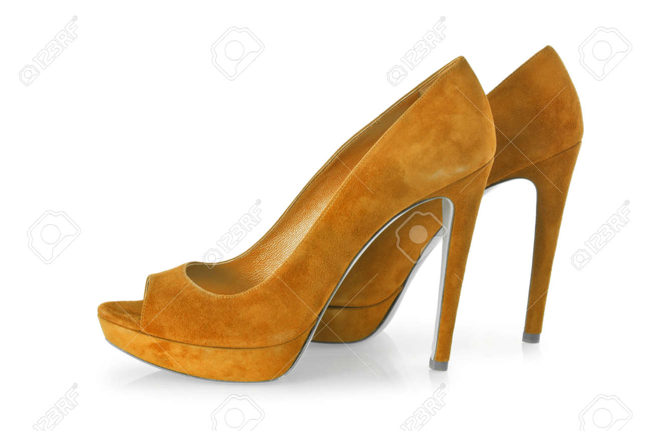 Woman shoes isolated on white Stock Photo - 16160535