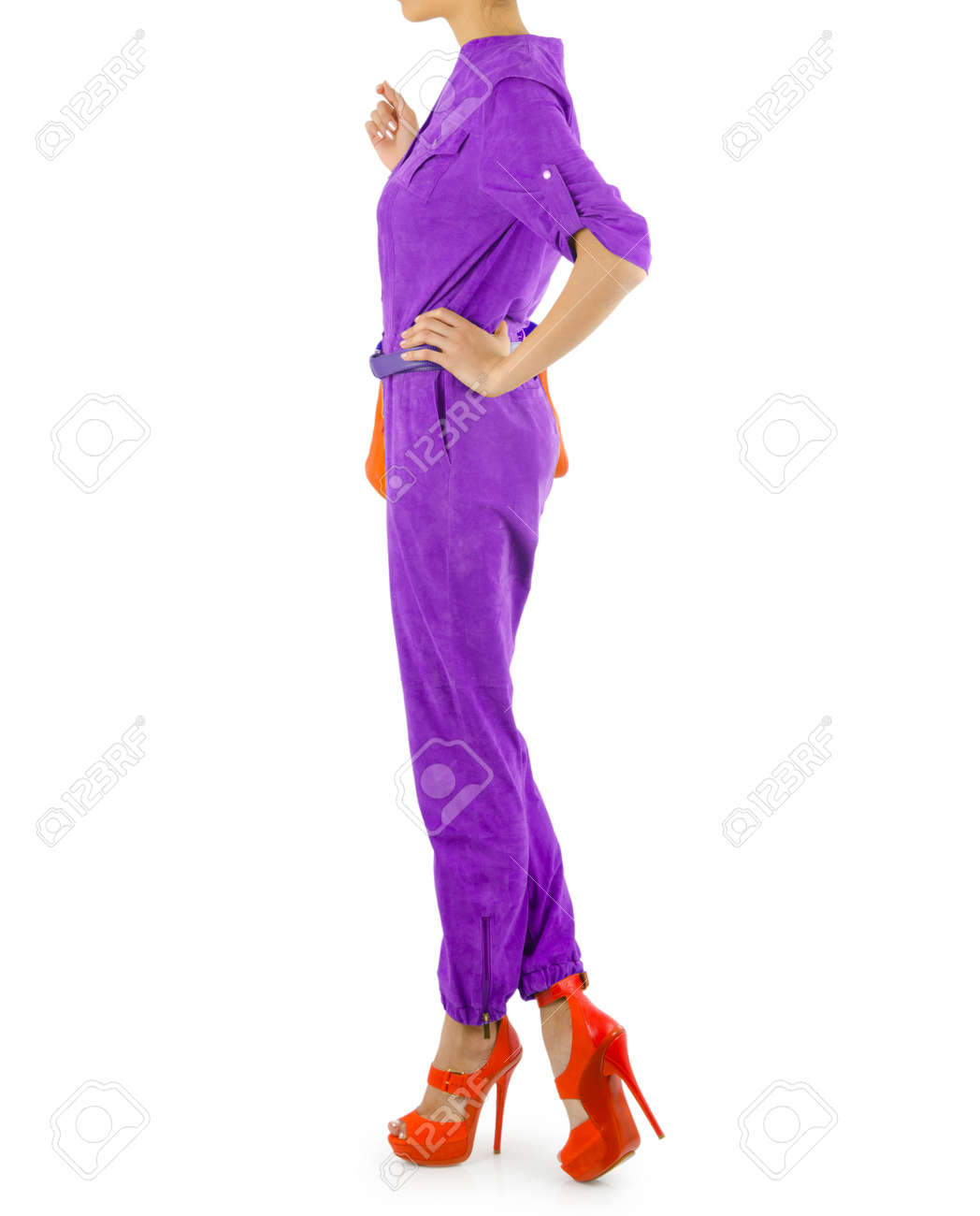 Fashion concept with model on white Stock Photo - 16159628