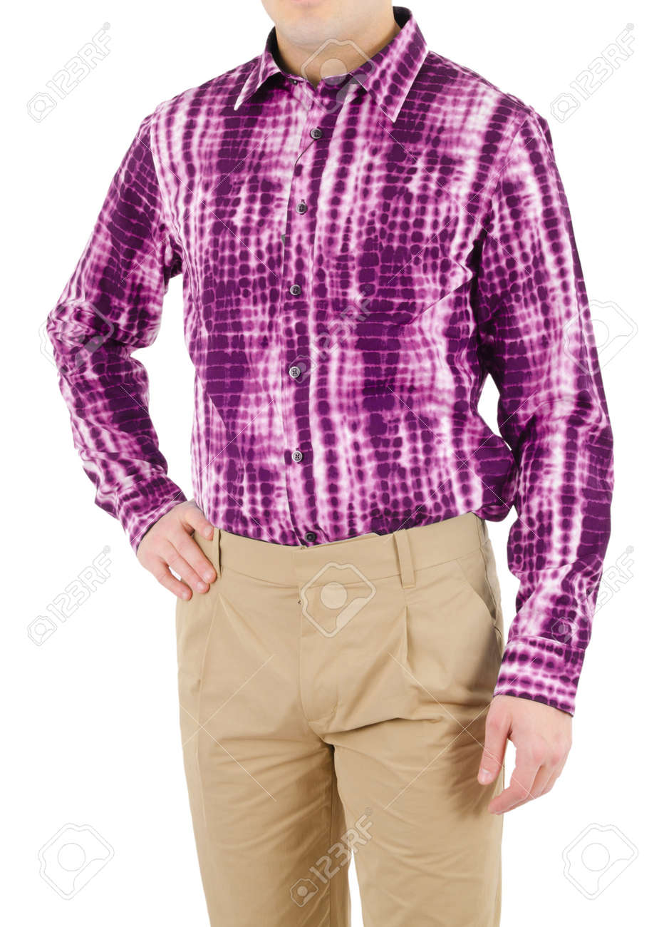 Male shirt isolated on white Stock Photo - 16124927