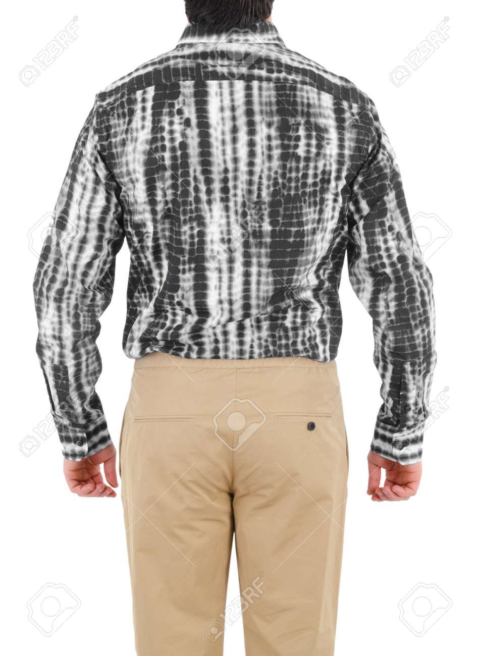 Male shirt isolated on white Stock Photo - 16125032