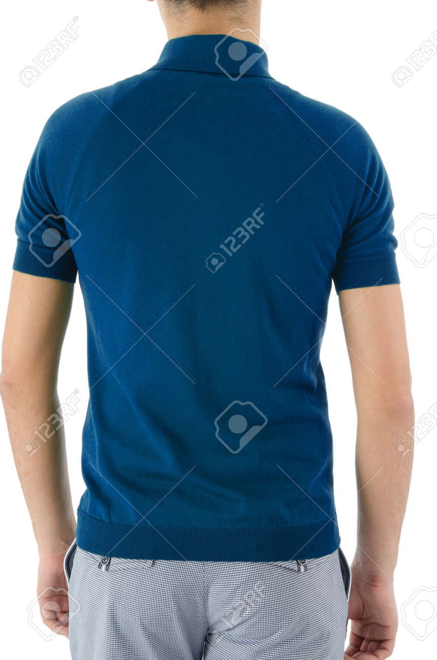 Male shirt isolated on white Stock Photo - 16121952
