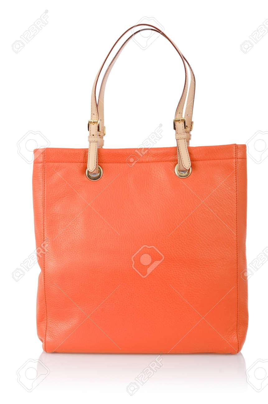 Elegant woman bag isolated on white Stock Photo - 16276173