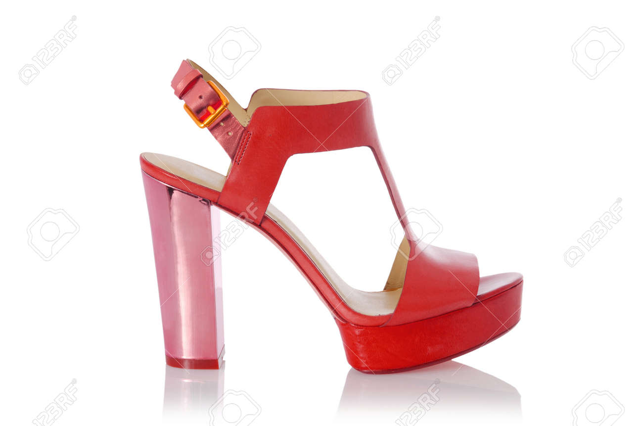 Woman shoes isolated on white Stock Photo - 16282522