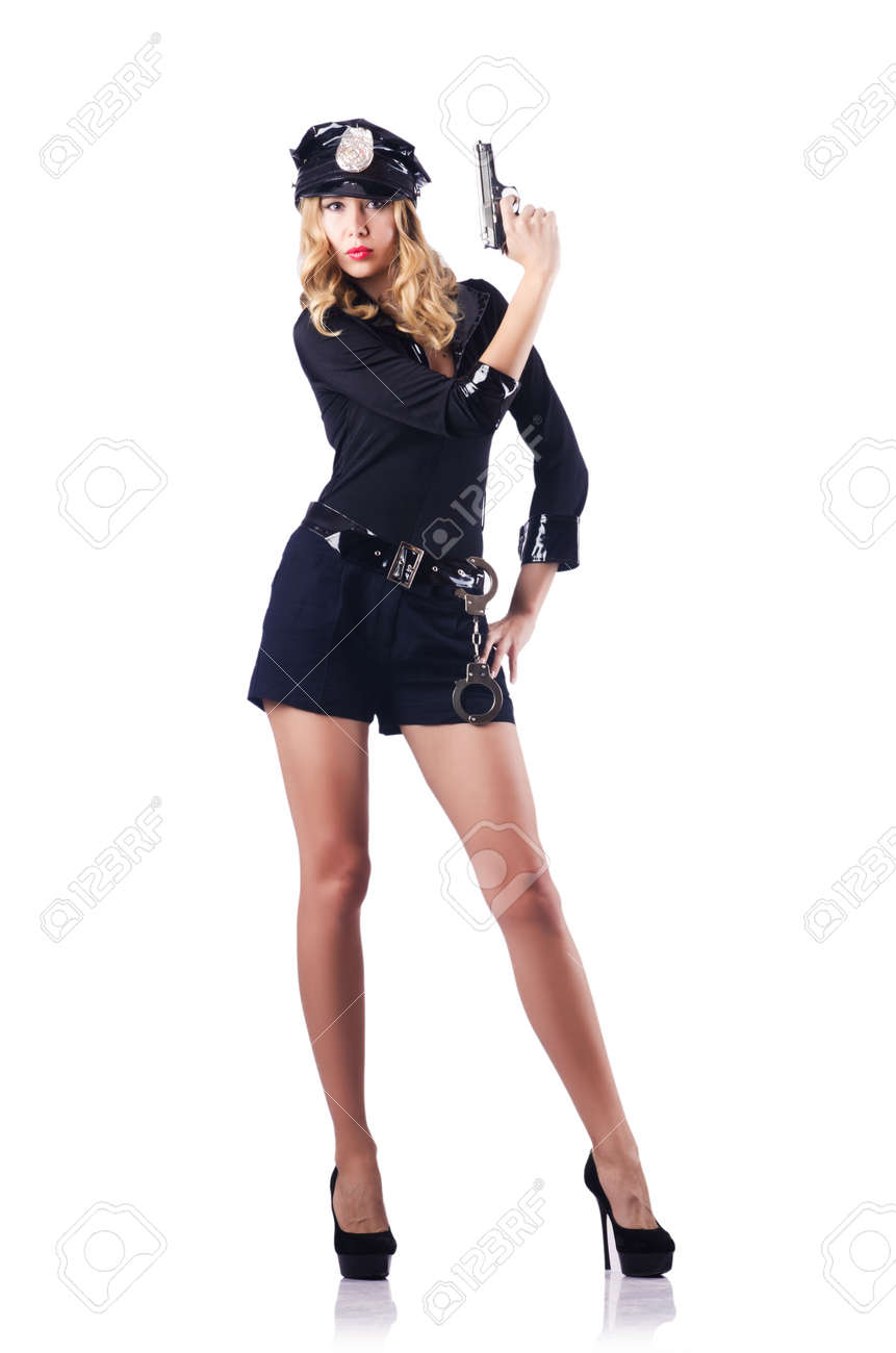 Young attractive woman police Stock Photo - 16283161