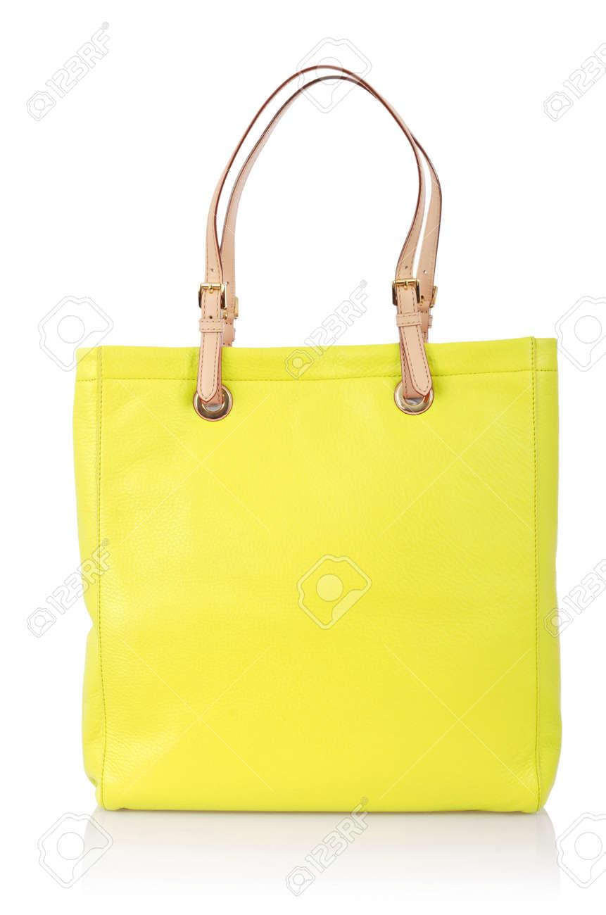 Elegant woman bag isolated on white Stock Photo - 16373733