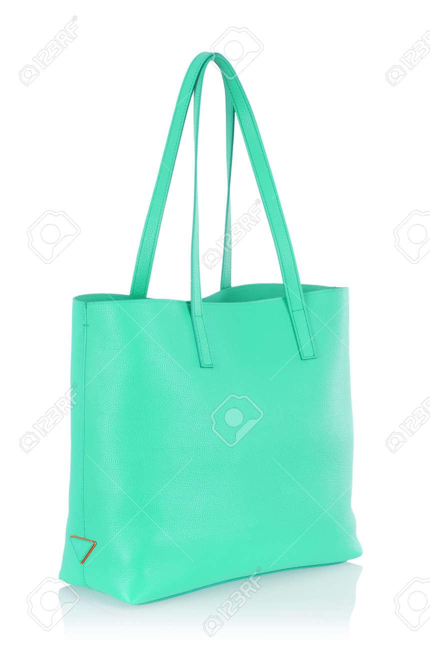 Elegant woman bag isolated on white Stock Photo - 16415519