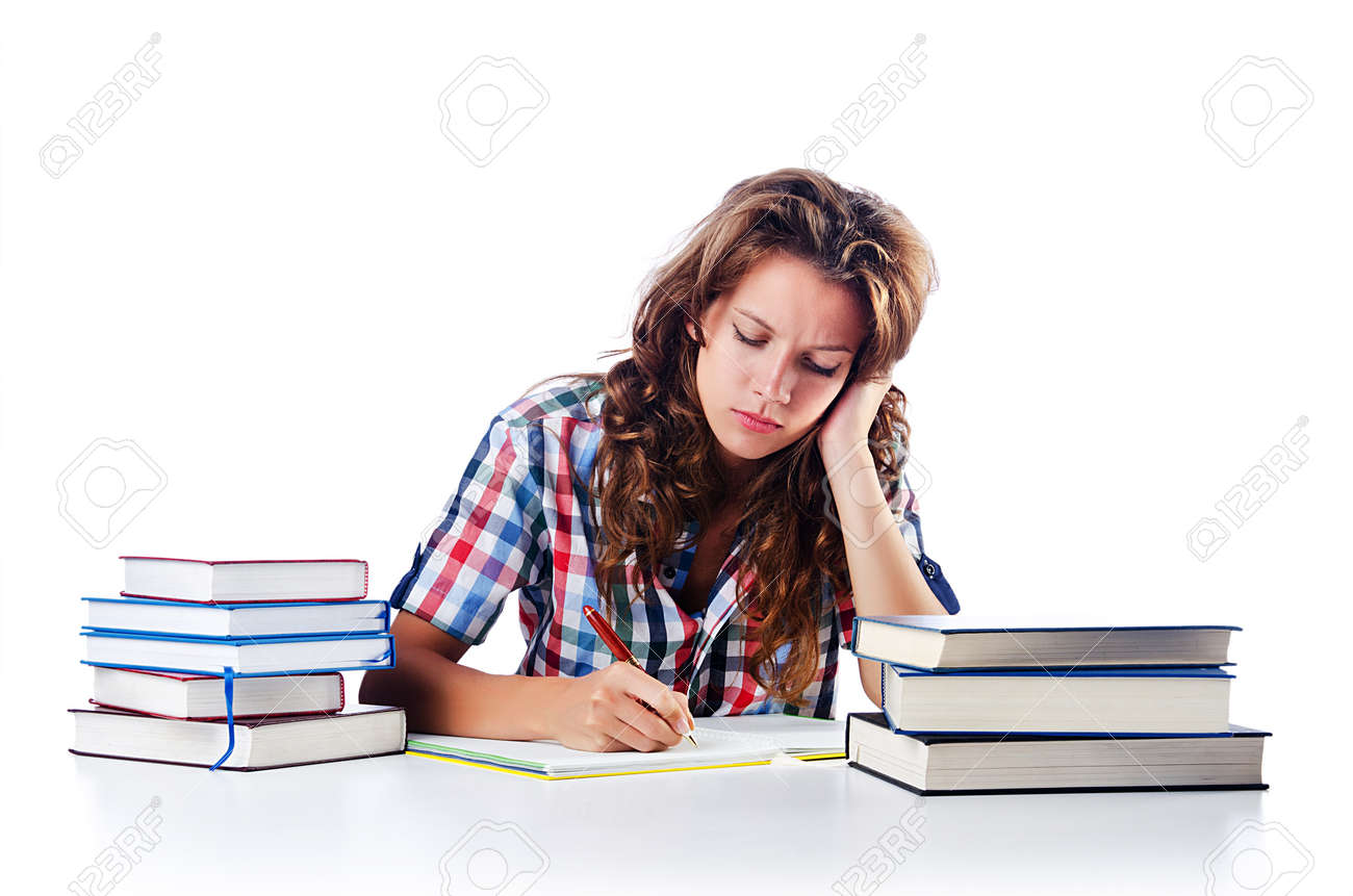 Student preparing for the exams Stock Photo - 16475981