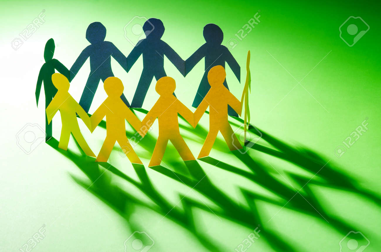 Paper people in teamworking concept Stock Photo - 16415731