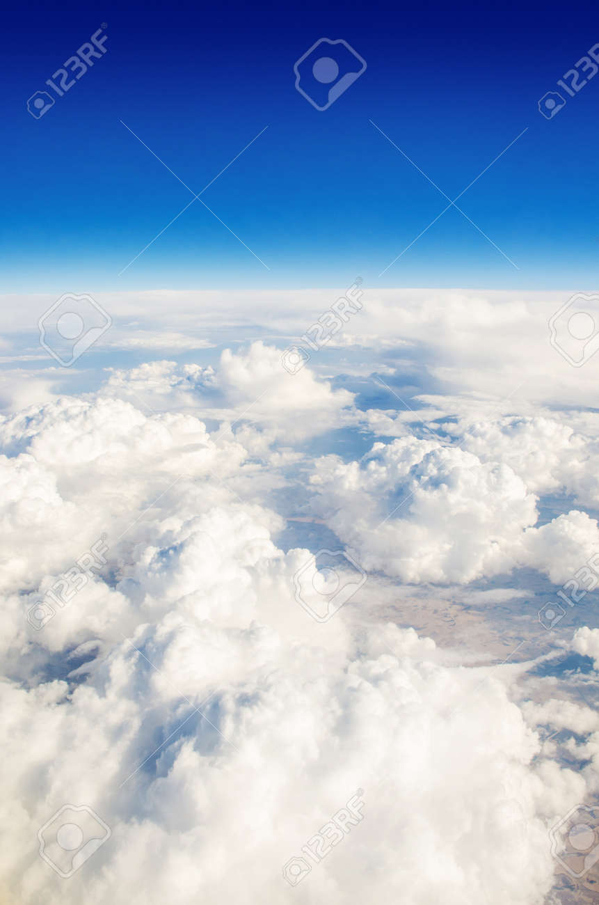 Clouds taken from the airplance Stock Photo - 16716233