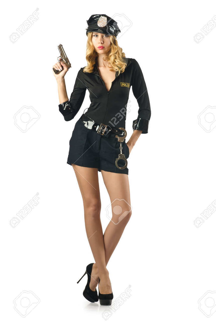 Young attractive woman police Stock Photo - 16748734