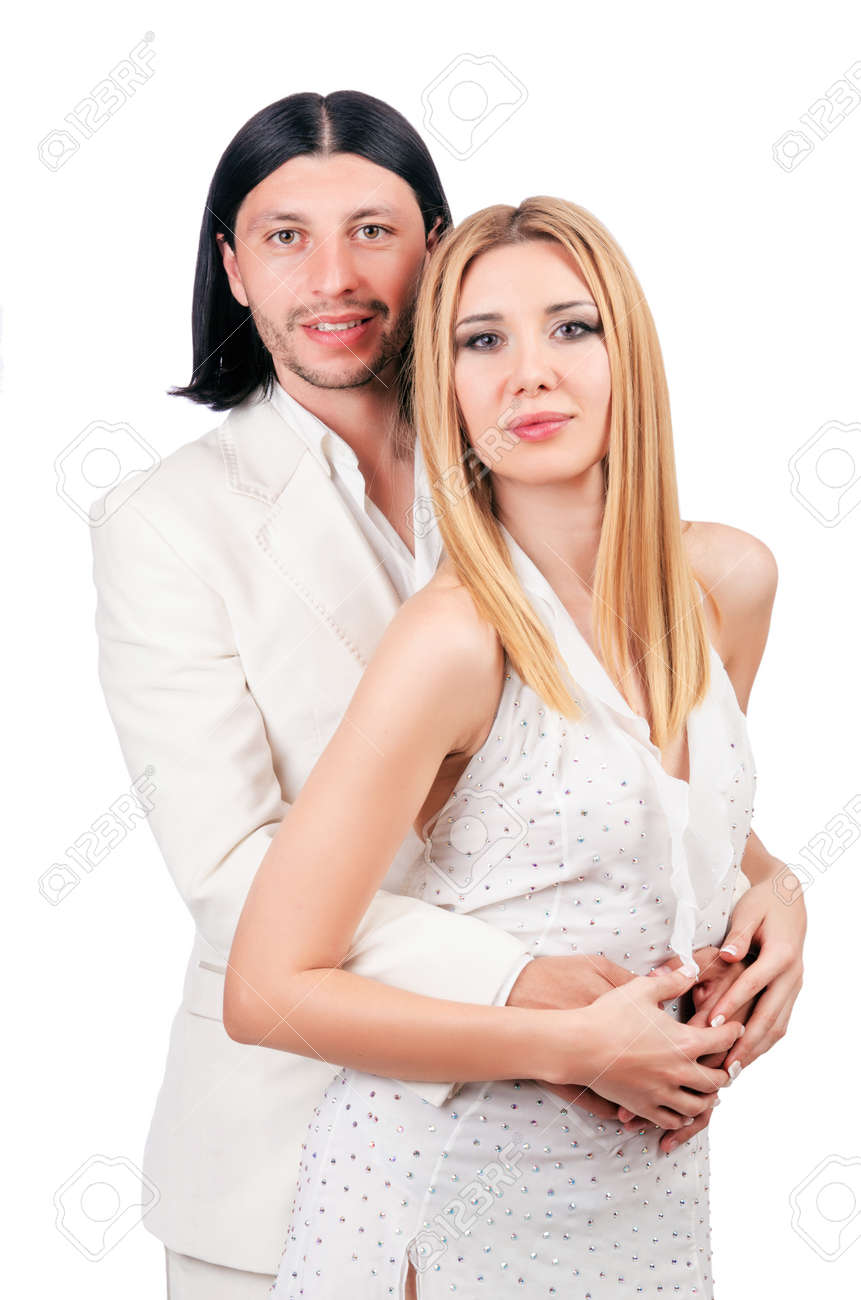 Pair of man and woman in love Stock Photo - 16934346
