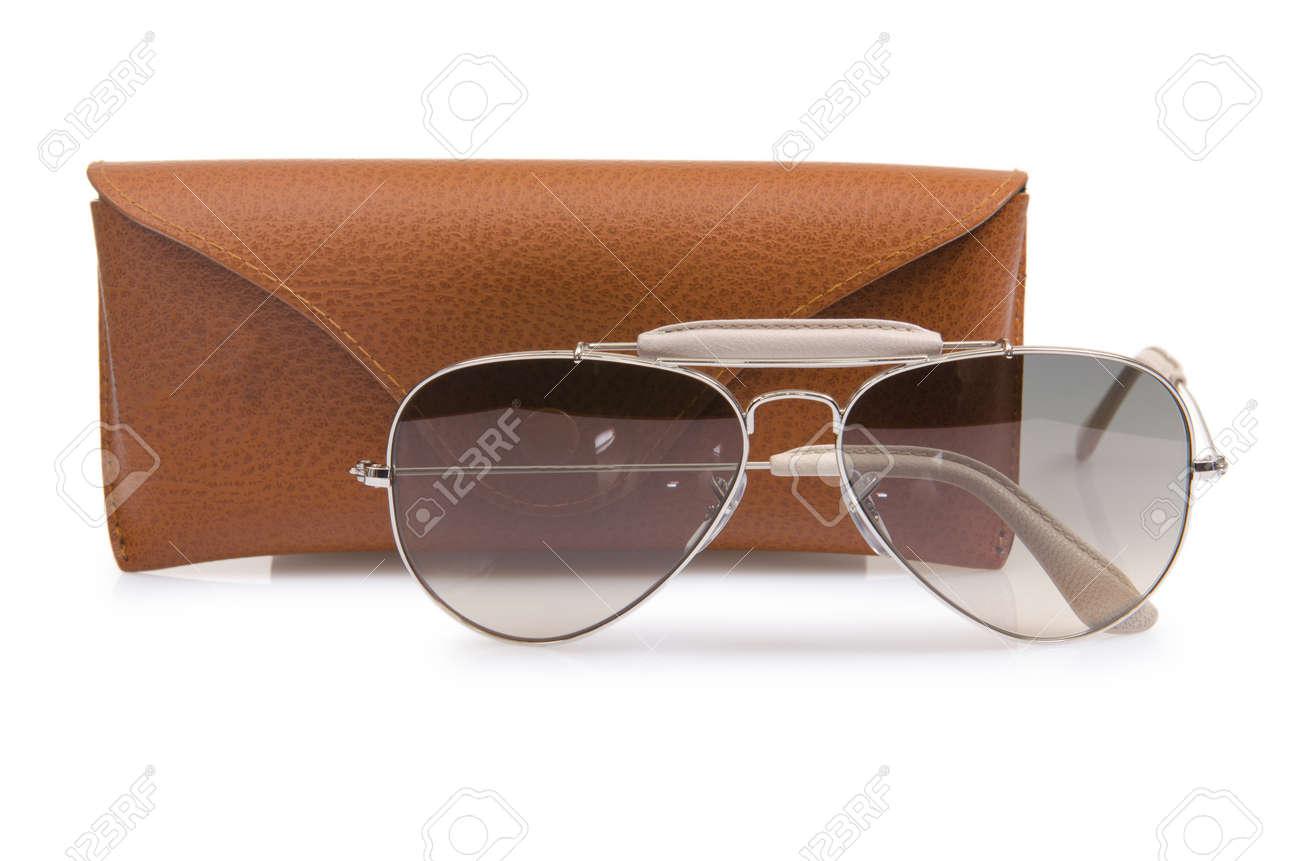 Elegant sunglasses isolated on the white Stock Photo - 16821758