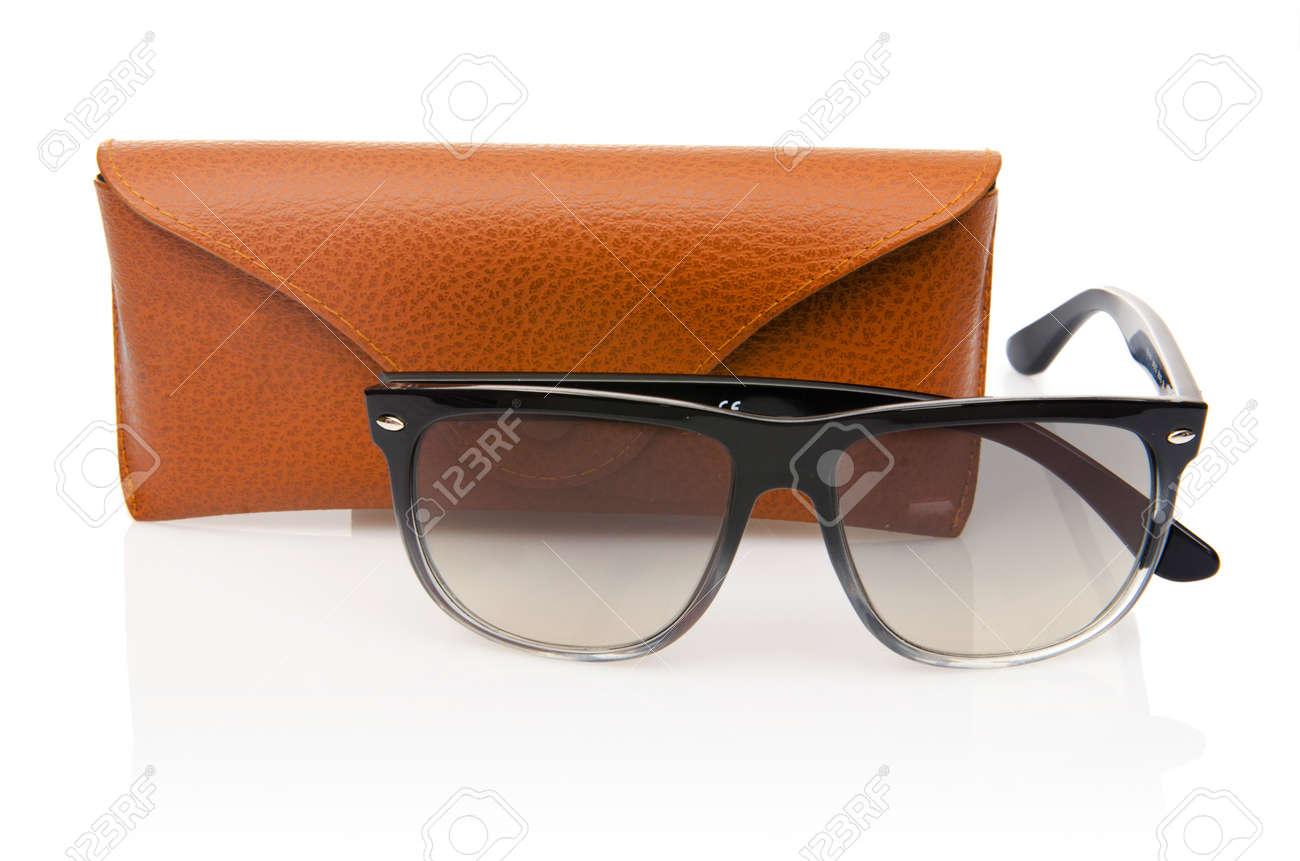 Elegant sunglasses isolated on the white Stock Photo - 16821864