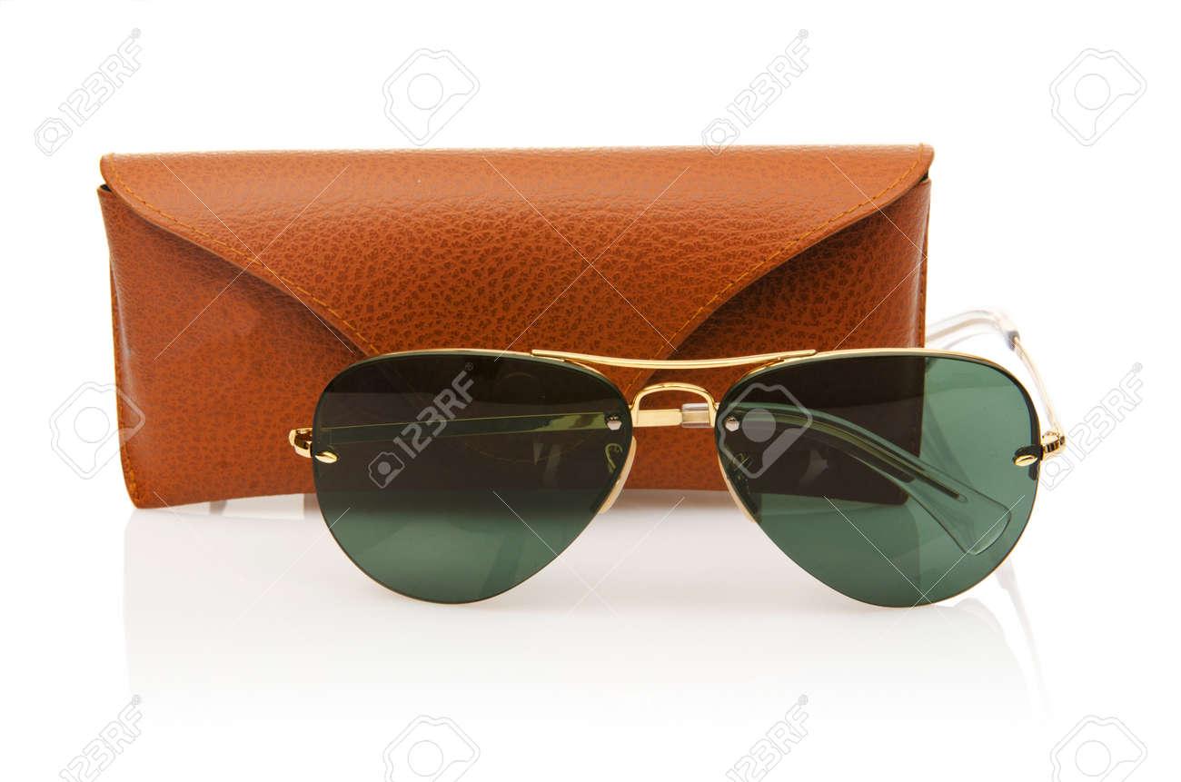 Elegant sunglasses isolated on the white Stock Photo - 16821862
