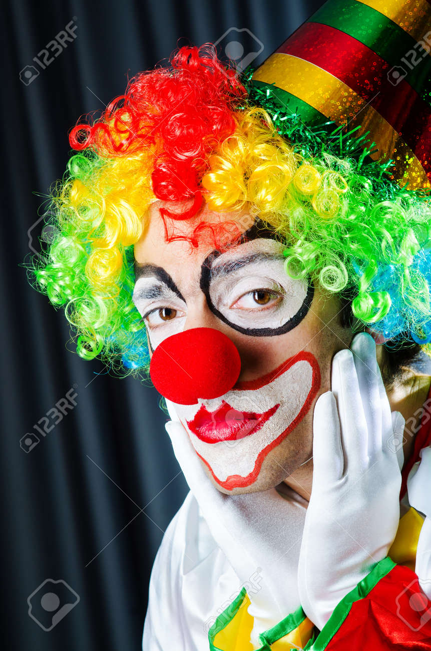 Funny clown in studio shooting Stock Photo - 16934392