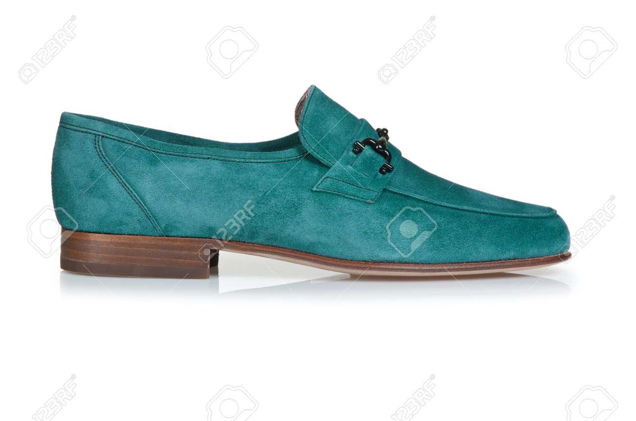 Fashion concept with male shoes on white Stock Photo - 16821765