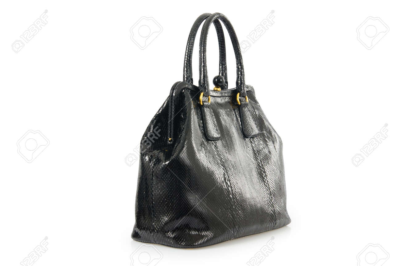 Nice elegant woman bag isolated on the white Stock Photo - 16821750